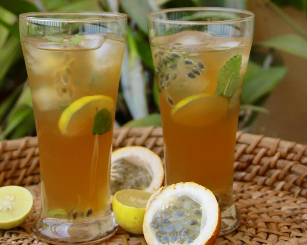 Passionfruit Lemon Iced Tea