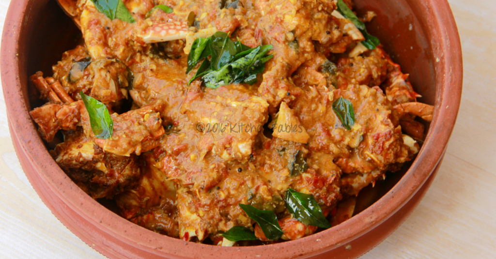Masala Crabs – Spicy Crabs cooked in Kerala Style