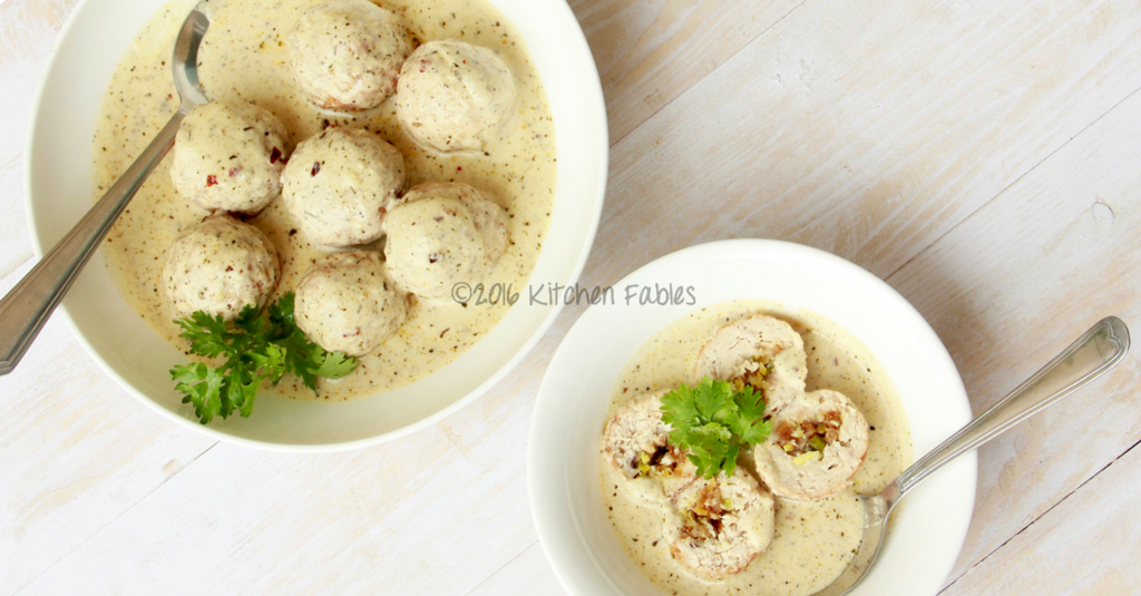 Shahi Kofta – Minced Chicken Meatballs Cooked in Rich Almond and Poppyseed Gravy