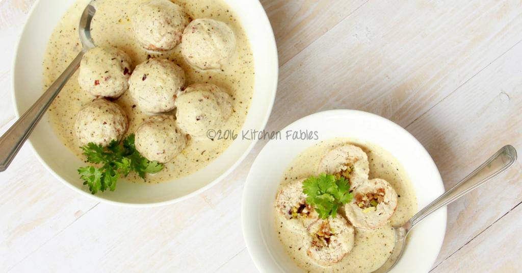 Shahi Kofta – Minced Chicken Meatballs Cooked in Rich Almond and Poppyseed Gravy
