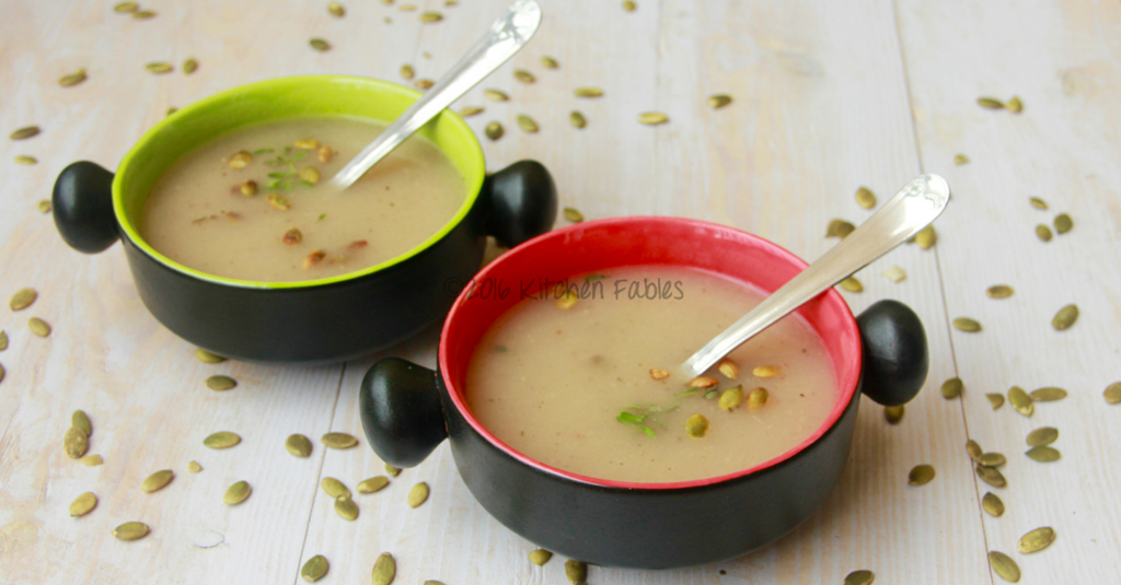 Healthy Ash Gourd Soup With Pumpkin Seeds