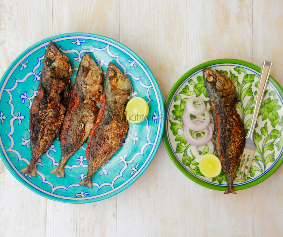 Mackerel Fish Fry with Goan Recheado Masala