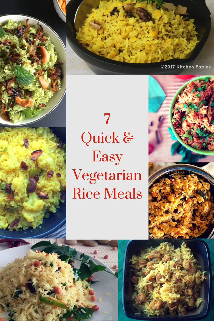 7 Quick & Easy Vegetarian Rice Meals