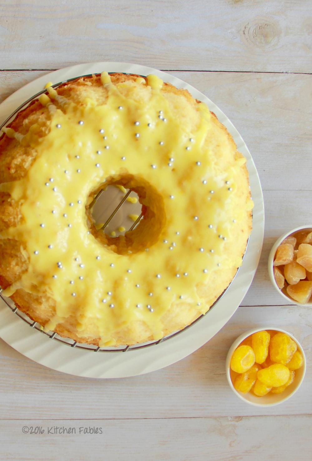 Warm Lemon Ginger Cake