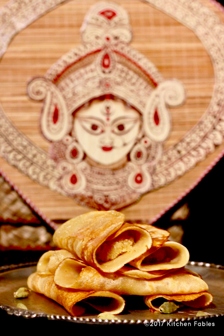 Patishapta- Indian Crepes with Sweet Filling